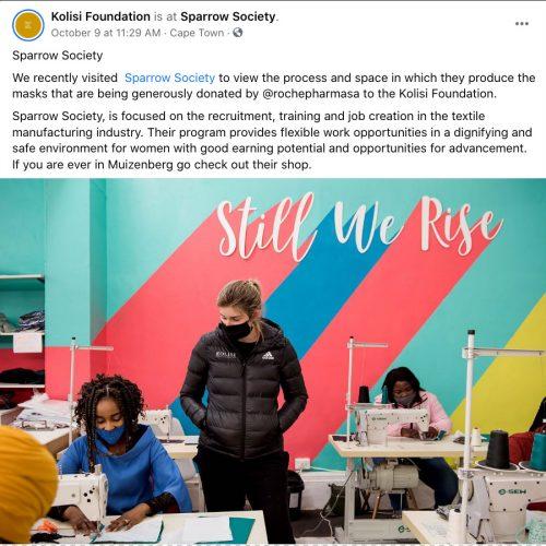 kolisi foundation post